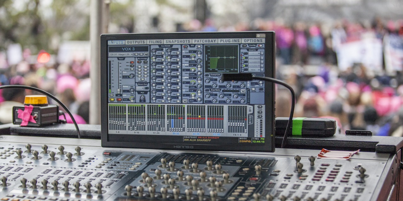image of sound desk equipment used for an event