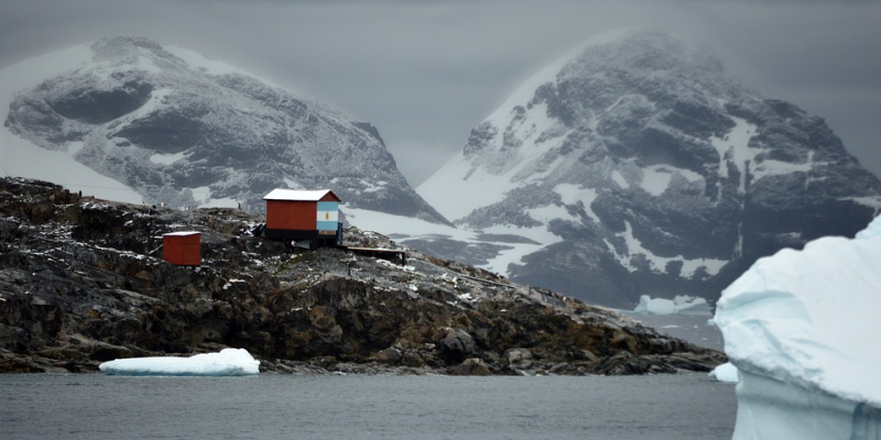 Image of a fieldwork station in Antarctica