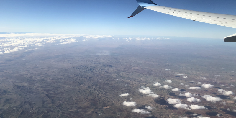 Image from a plane window