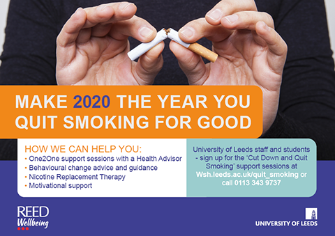 Free 'quit or cut down' support sessions for students on campus