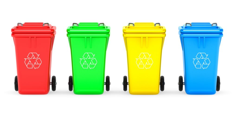 Image of different waste bins